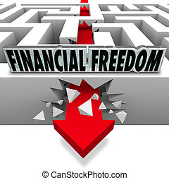 financiële vrijheid, problemen, doorbreken, geld,...