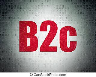 financiën, b2c, papier, achtergrond, digitale , data, concept:
