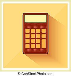 financiën, classieke, rekenmachine, retro, achtergrond, boekhouding