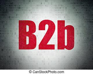 financiën, concept:, b2b, op, digitale , data, papier, achtergrond