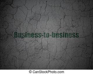 financiën, concept:, business-to-business, op, grunge, muur, achtergrond