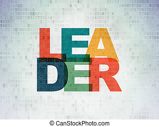 financiën, concept:, leider, op, digitale , data, papier, achtergrond