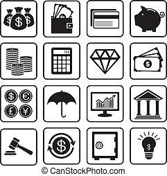 financiën, iconen