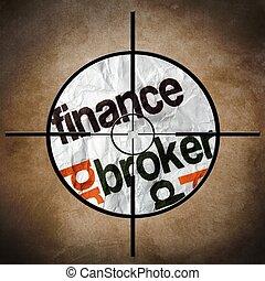 financiën, makelaar, doel