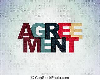 financiën, overeenkomst, papier, achtergrond, digitale , data, concept: