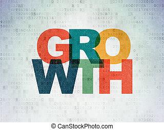 financiën, papier, groei, achtergrond, digitale , data, concept: