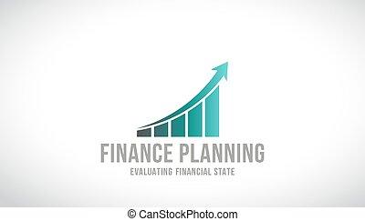 financiën, planning, logo, vector, ontwerp