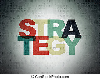 financiën, strategie, papier, achtergrond, digitale , data, concept: