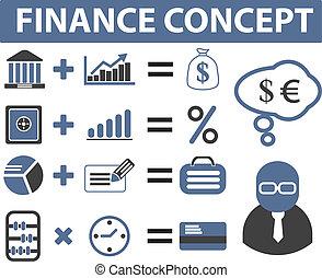 financiën, tekens & borden