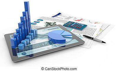 financial accounting concept, 3d illustration