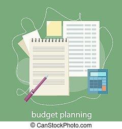 Budget planning concept