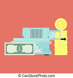 Financial accounting vector concept