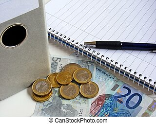 Financial accounts - Financial based image with folder, pen...