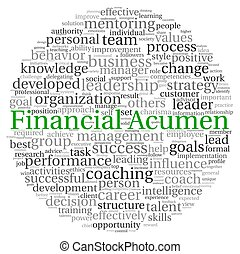 Financial Acumen concept in word tag cloud