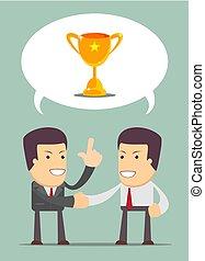 financial adviser having a talk with a men