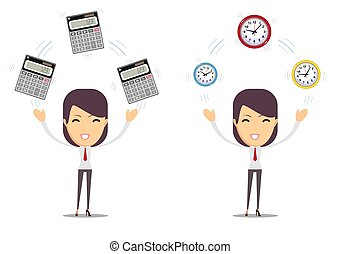 financial advisor - Bookkeeping services and time management. Profit, finances concept.