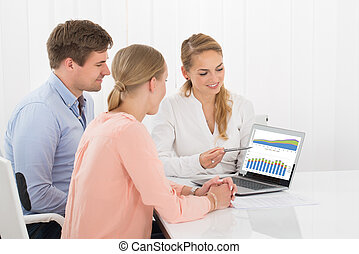 Financial Advisor Showing Chart To Couple