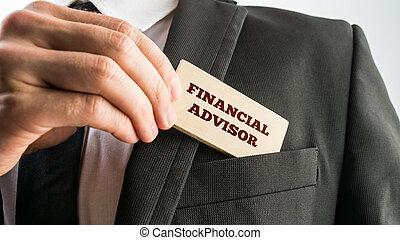 Financial advisor - Close up of the hand of a businessman...