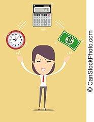 financial advisor. Vector, flat illustration