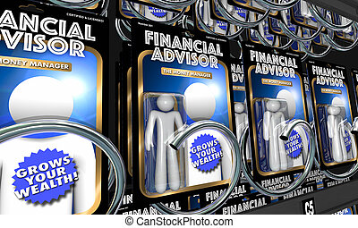 Financial Advisors Money Advice Investment Information 3d Illustration