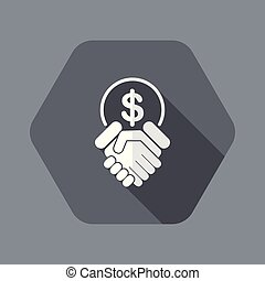 Financial agreement - Flat and isolated vector illustration ...