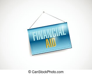 financial aid banner illustration design