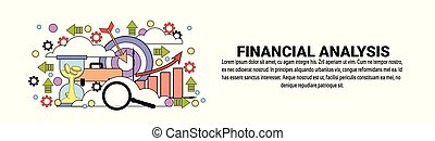 Financial Analysis Business Concept Horizontal Web Banner With Copy Space