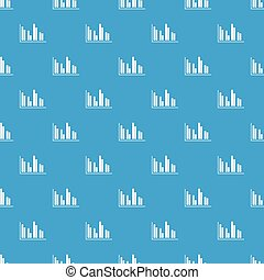 Financial analysis chart pattern seamless blue