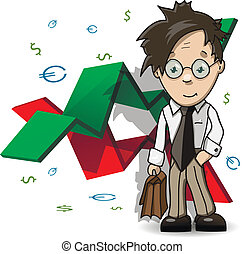 financial Analyst - illustration of the analyst with...