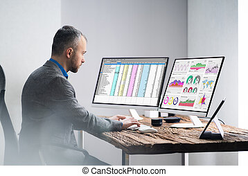 Financial Analyst Working With KPI Data