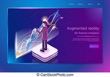 Financial Analytics Service Vector Web Banner
