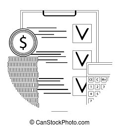 Financial audit line icon