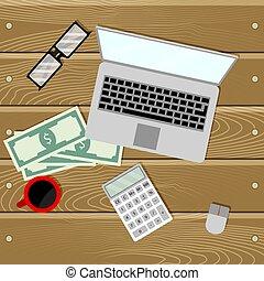 Financial audit on laptop