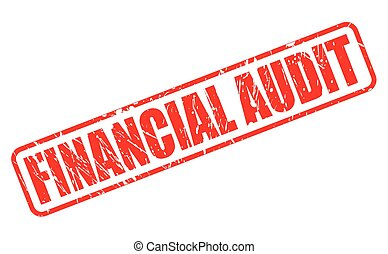 FINANCIAL AUDIT red stamp text