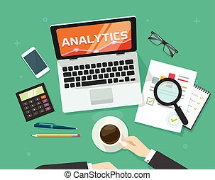 Financial auditing report concept, financial data research,...
