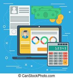 Financial balance concept