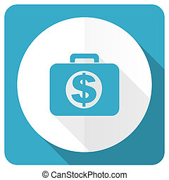 financial blue flat icon