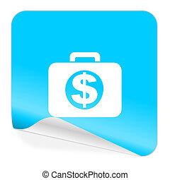 financial blue sticker icon