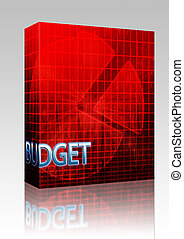 Financial budgeting illustration box package