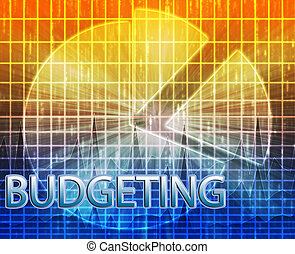 Financial budgeting illustration