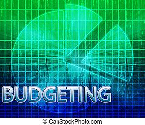 Financial budgeting illustration - Illustration of financial...
