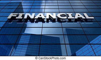 Financial building blue sky timelapse.