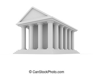 Financial building isolated on white