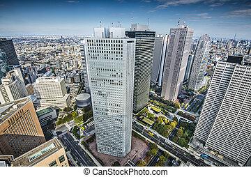 Shinjuku - Financial buildings in Shinjuku, Tokyo, Japan.