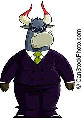 Financial bull in sunglass
