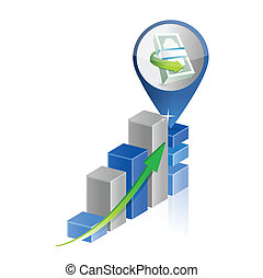 financial business graph illustration