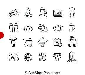 Financial Business Icons // Red Point Series