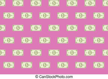 Financial Cash Paper Banknote Seamless Pattern