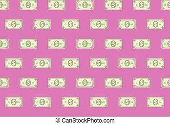 Financial Cash Paper Banknote Seamless Pattern