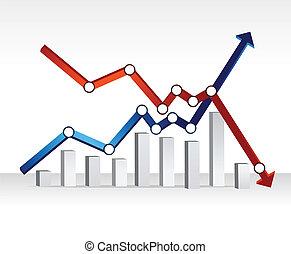 financial chart illustration design